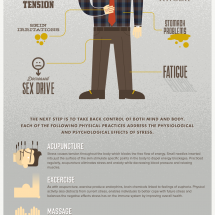 Stress Less! Managing Employee Stress Infographic