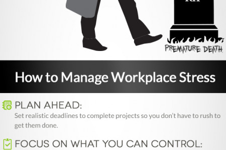 Stress Management Techniques for Workplace Stress Infographic