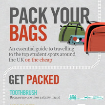 Students: Pack Your Bags, Take The Train And Travel Smart Infographic