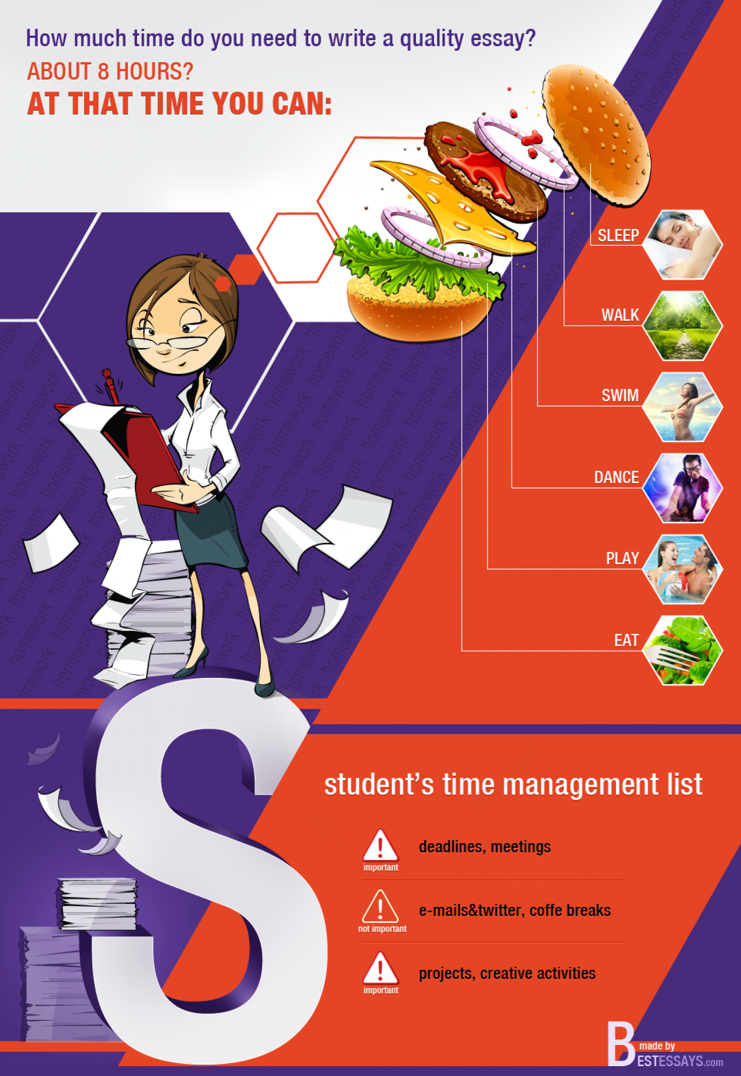 Student's time management Infographic
