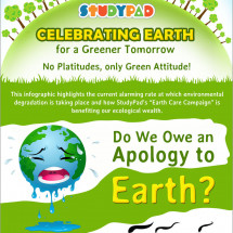 StudyPad Wishes You a Fun Earth Day! Save Today, Green Tomorrow Infographic