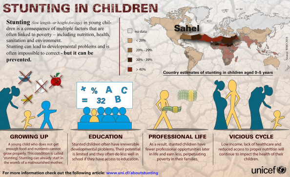 Stunting in children Infographic