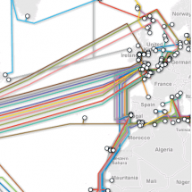 Submarine Cable Map Infographic