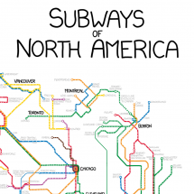 Subways of North America Infographic