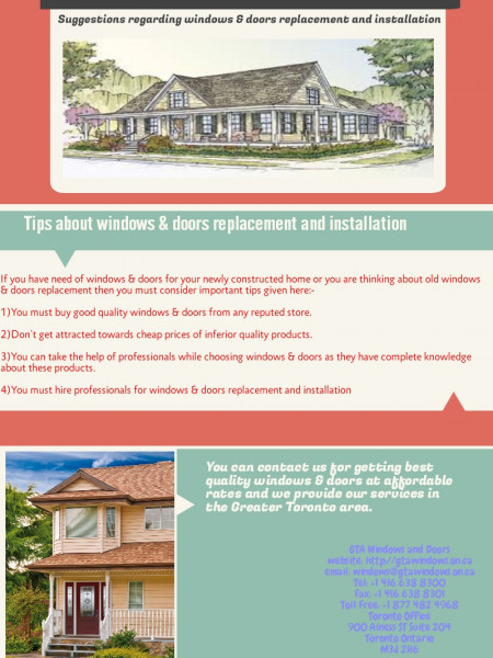 Tips about windows & doors replacement and installation Infographic