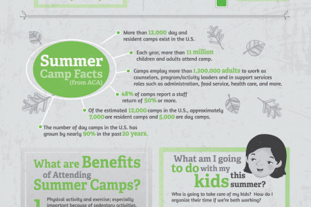Summer Camps in a Nut Shell Infographic
