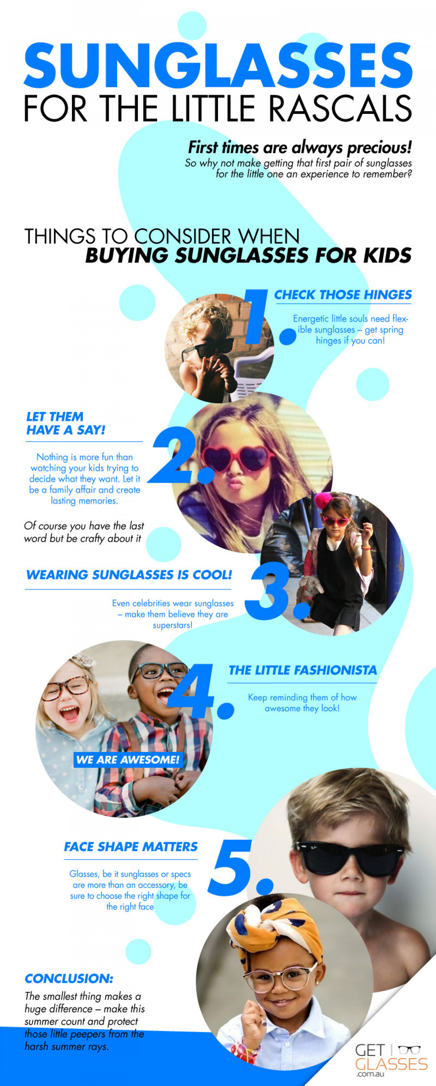 Sunglasses for the Little Rascals Infographic