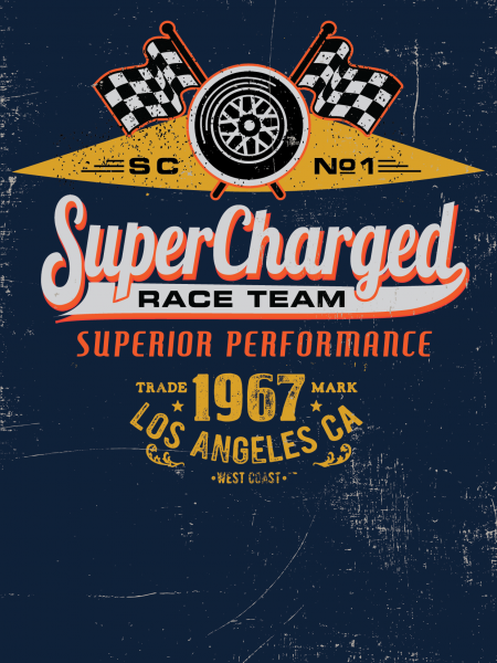 Supercharged Race Team Infographic