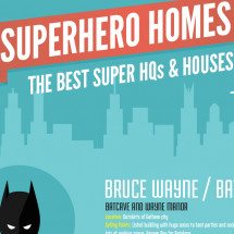 Superhero Homes Infographic