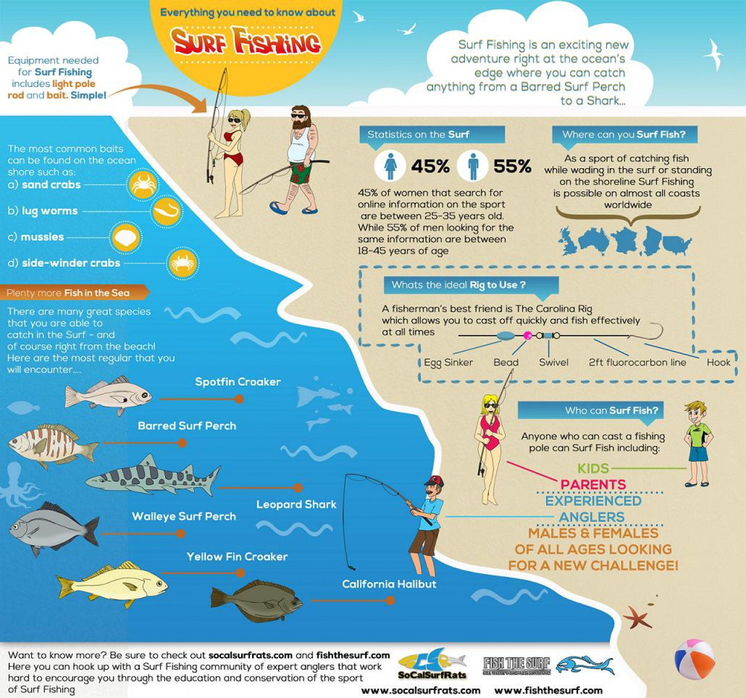 Surf Fishing Infographic