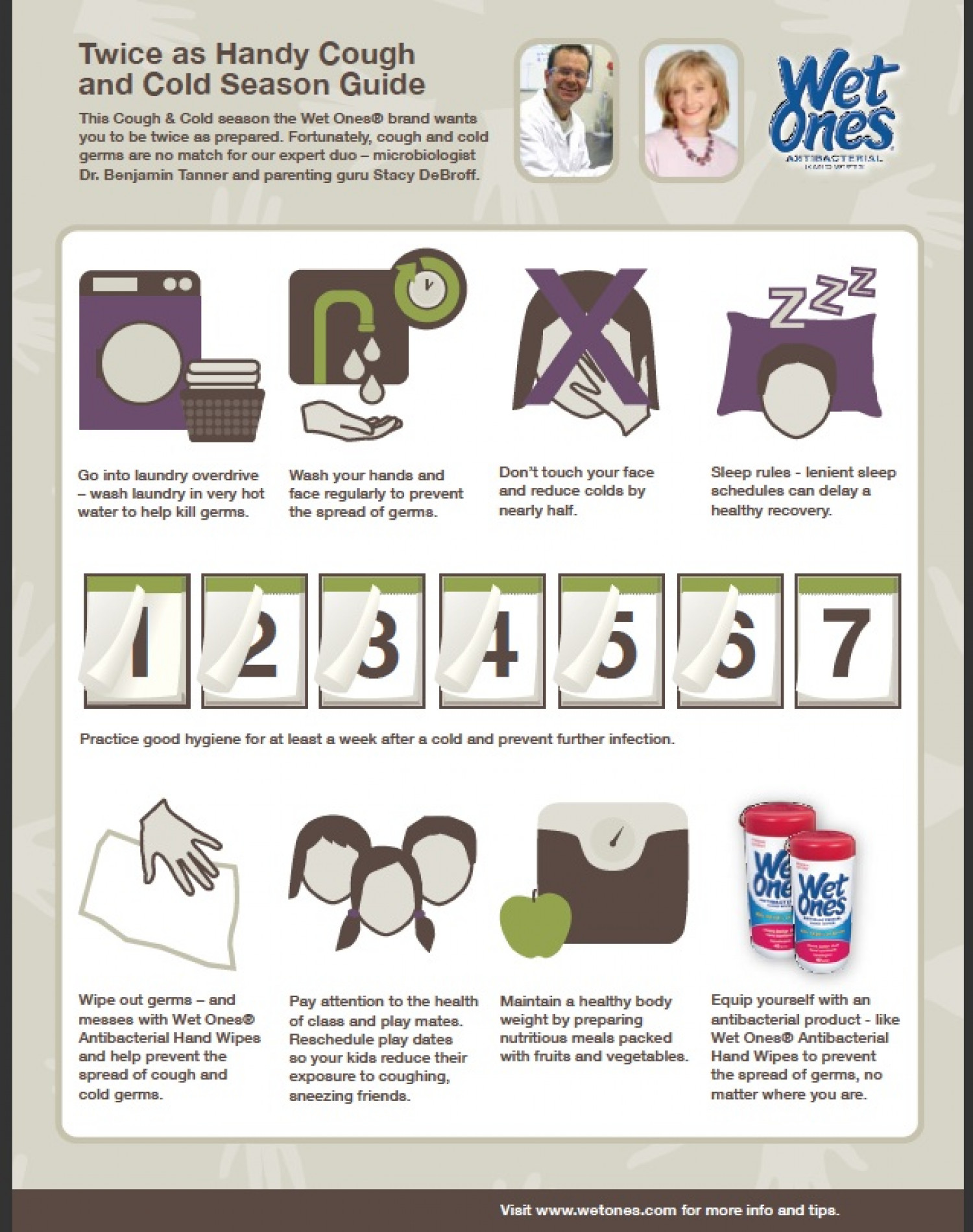 Surviving Cold and Flu season with Wet Ones Infographic