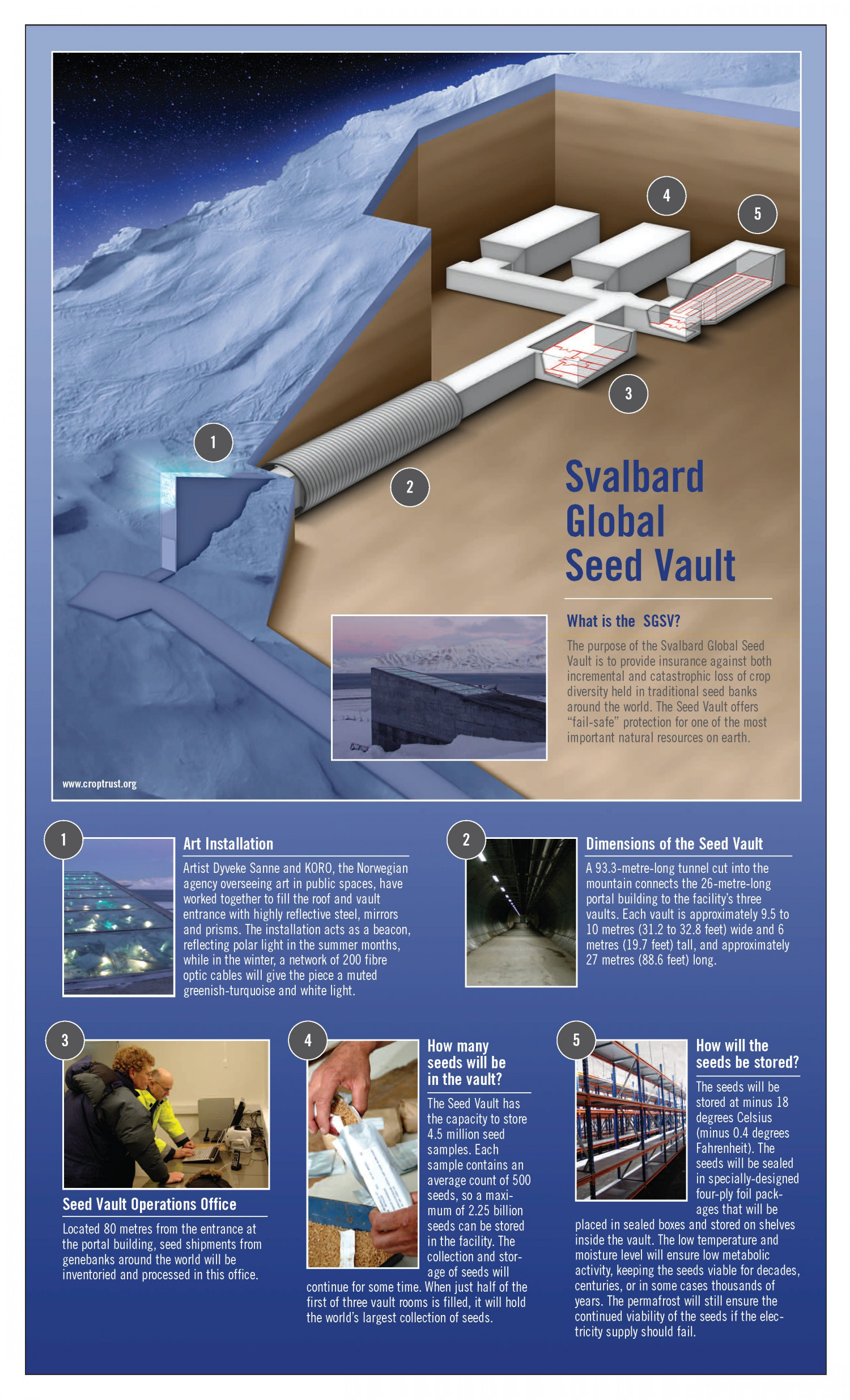 Svalbard Global Seed Vault Graphics Infographic