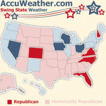Swing State Weather Infographic