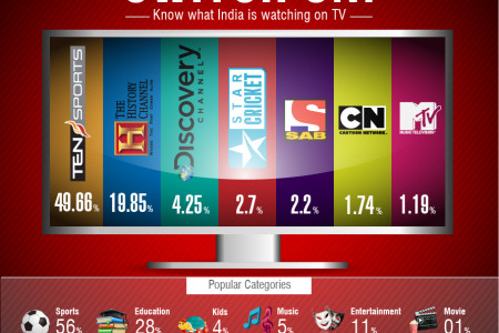 Switch On! Know what India is watching Infographic