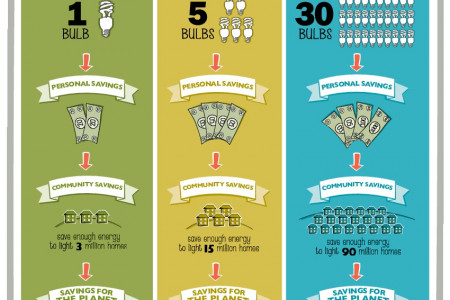 Switching Incandescents to ENERGY STAR CFLs Leads to Real Savings Infographic