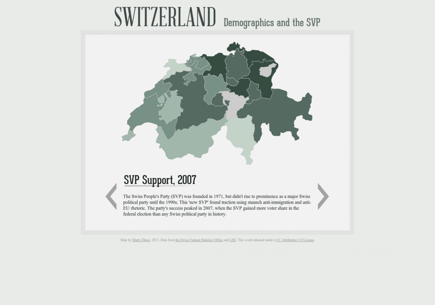 Switzerland: Demographics and the SVP Infographic