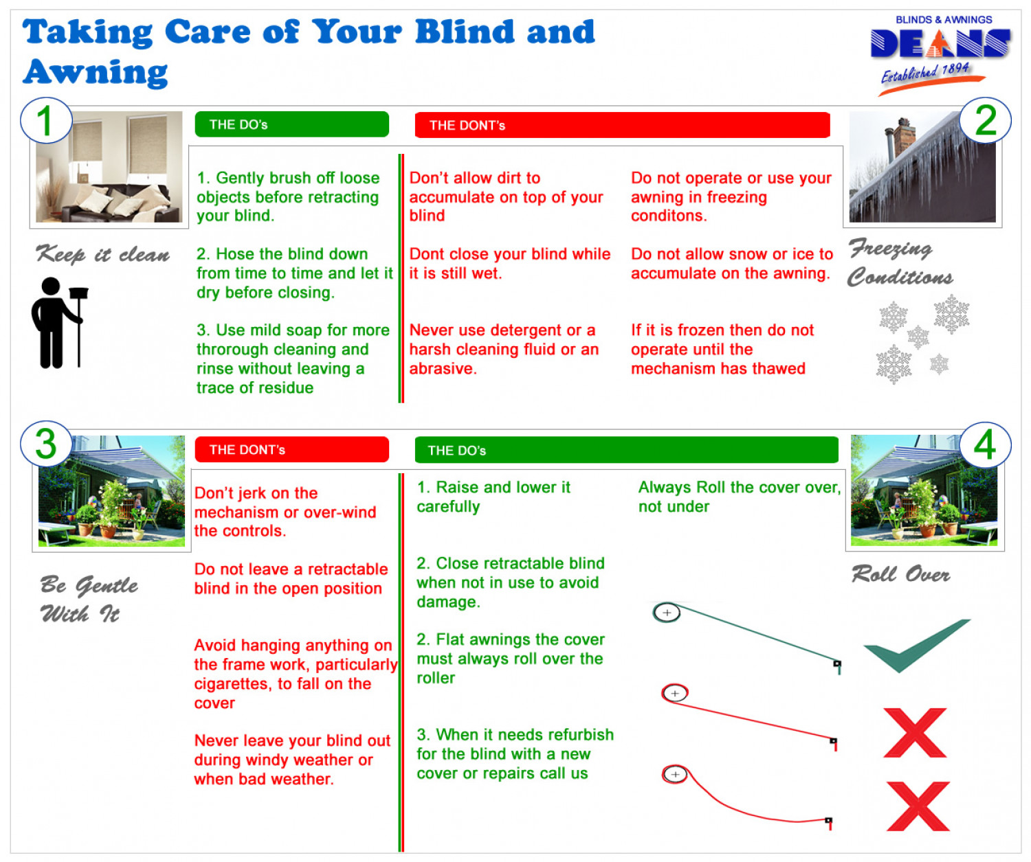 Taking Care of Your Awnings During Bad Weather Infographic