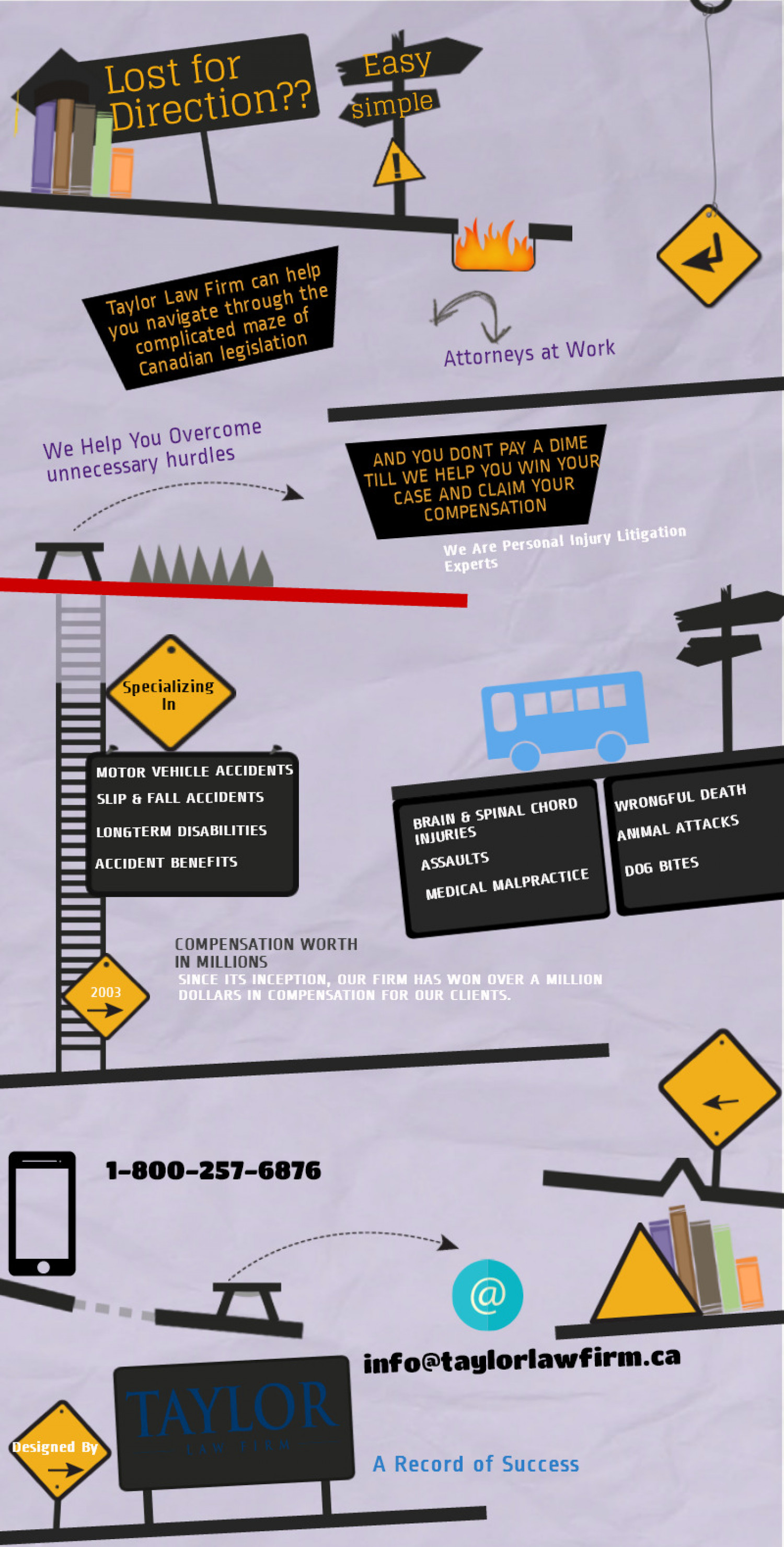 Taylor Law Firm Infographic