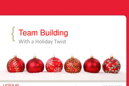 Team Building With a Holiday Twist Infographic