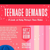 Teenage Demands: A look at Katy Perry's Tour Rider Infographic