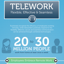 Telework - Flexible, Effective & Seamless Infographic