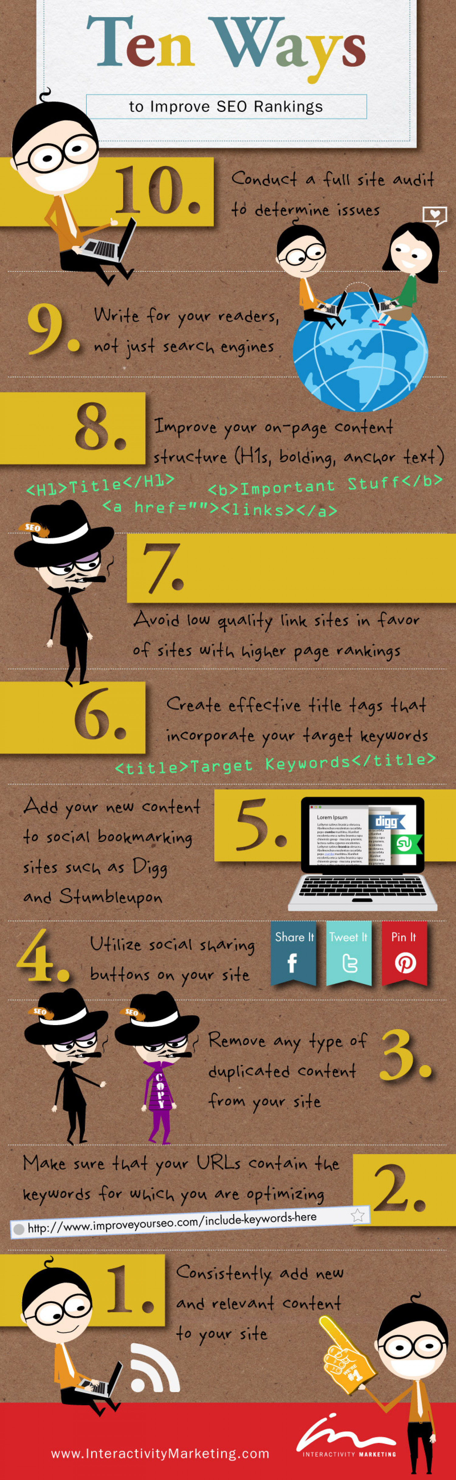 Ten Ways to Improve SEO Rankings Infographic