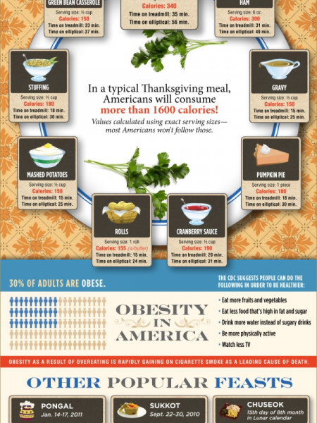 Thanksgiving Calories Infographic