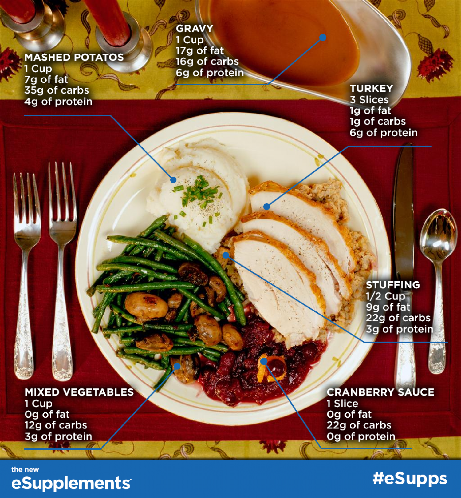 Thanksgiving Macros Infographic