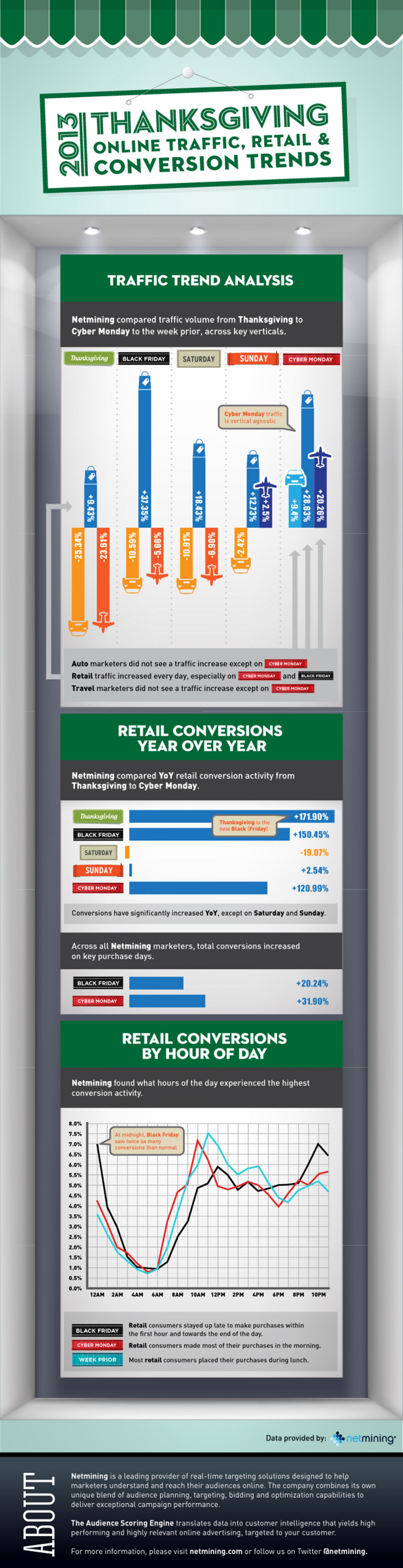 Netmining Thanksgiving Shopping Season 2013 Infographic