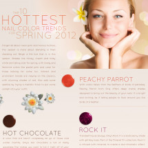 The 10 Hottest Nail Color Trends For 2012 Infographic