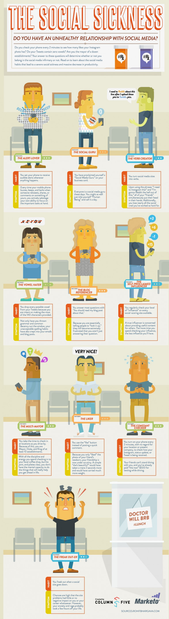 The 10 Types of Social Media Addicts