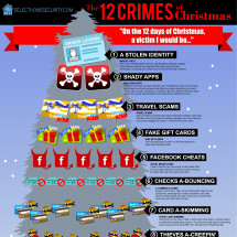 The 12 Crimes of Christmas Infographic