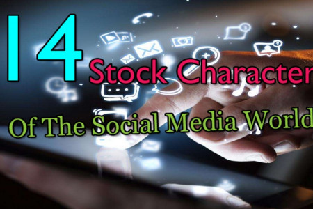 The 14 Stock Characters of the Social Media World Infographic