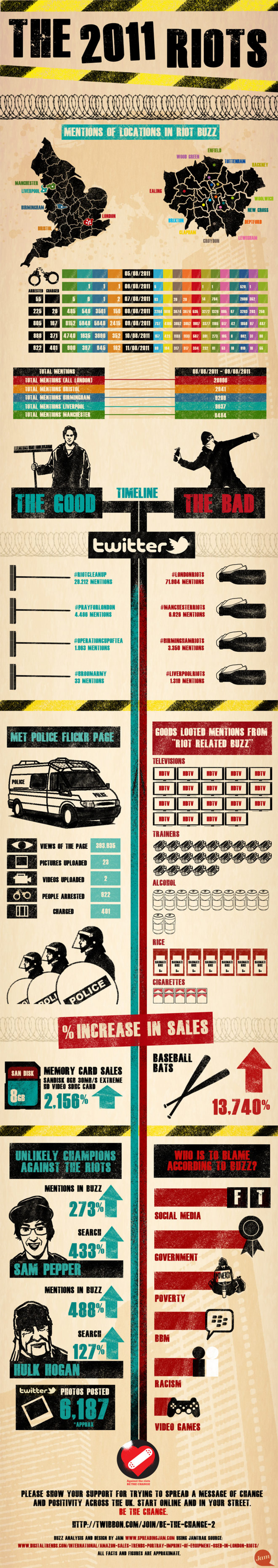 The 2011 Riots  Infographic