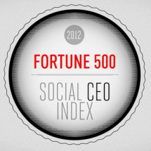 The 2012 Fortune 500 Social CEO Index Infographic
