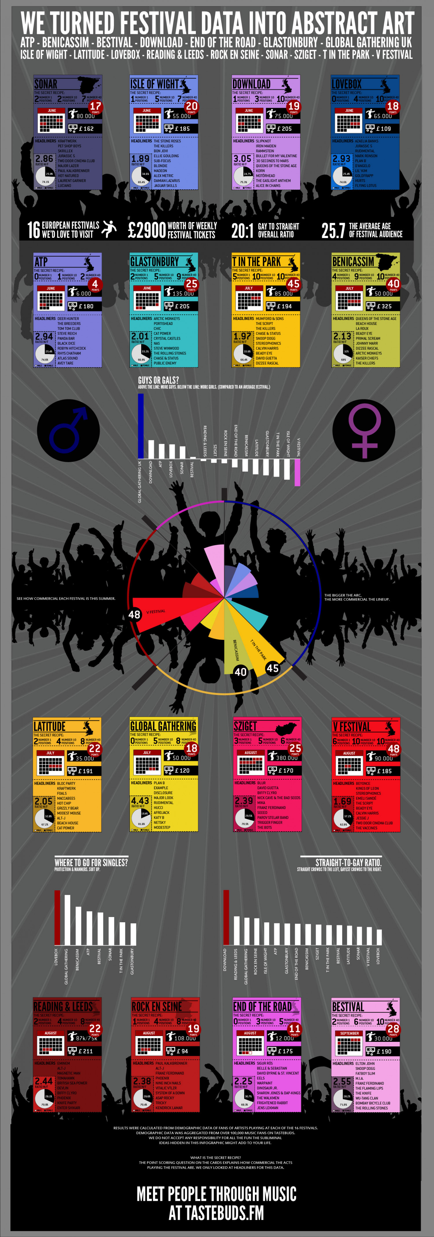 The 2013 Festival Season Infographic