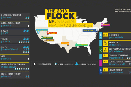 The 2013 Flock of US Digital Health Conferences Infographic