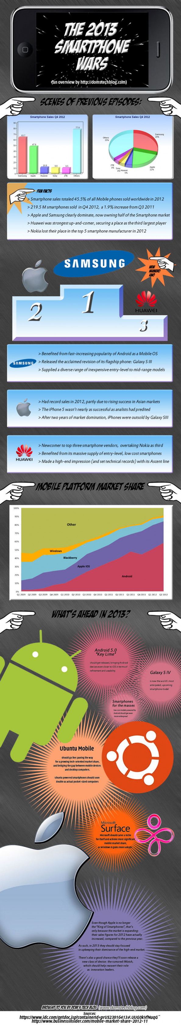 The 2013 Smartphone Wars Infographic