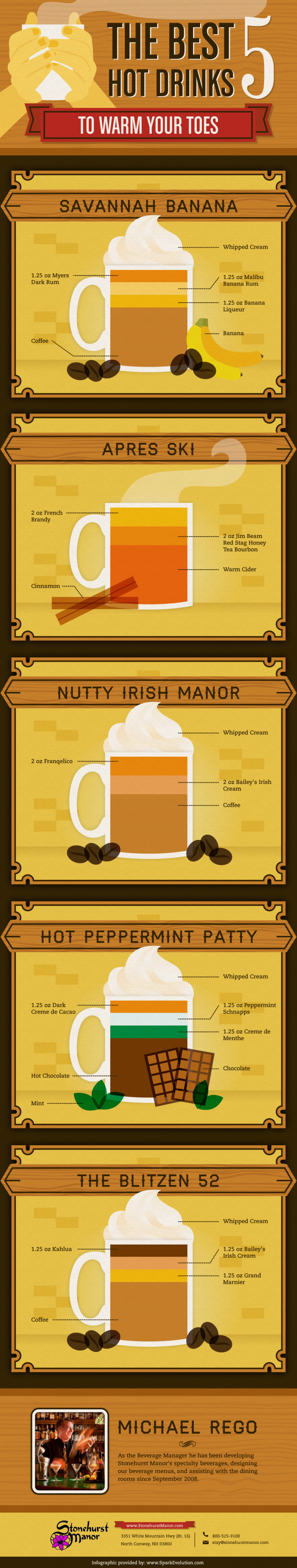 The Best 5 Hot Drinks to Warm Your Toes  Infographic