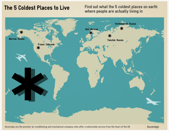 The 5 Most Coldest Places to Live