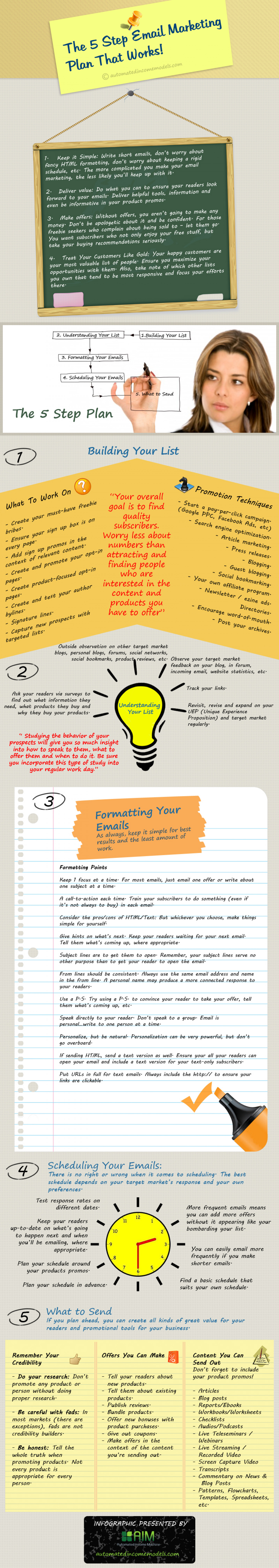 The 5 Step Email Marketing Plan That Works! Infographic