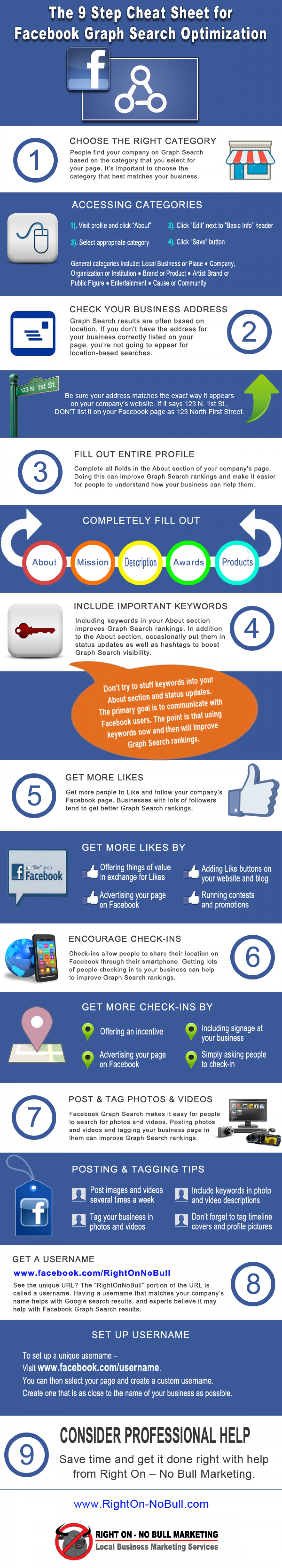 The 9 Step Cheat Sheet for Facebook Graph Search Optimization Infographic
