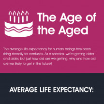 The Age of the Aged - Life Expectancy around the World Infographic
