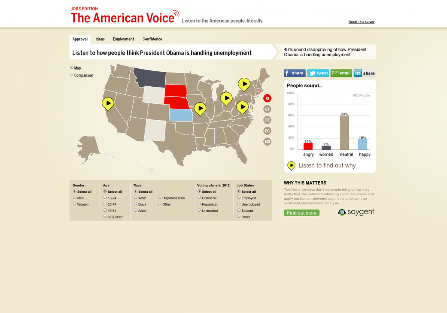 The American Voice Infographic