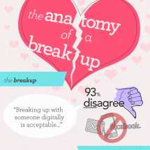 The Anatomy of a Breakup Infographic