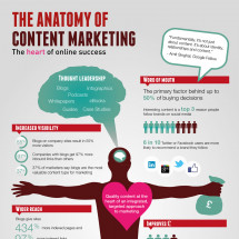 The Anatomy of Content Marketing: the heart of online success Infographic
