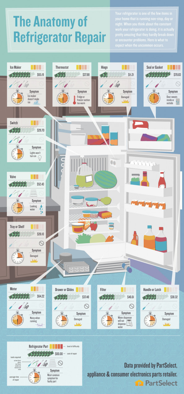 The Anatomy of Refrigerator Repair Infographic