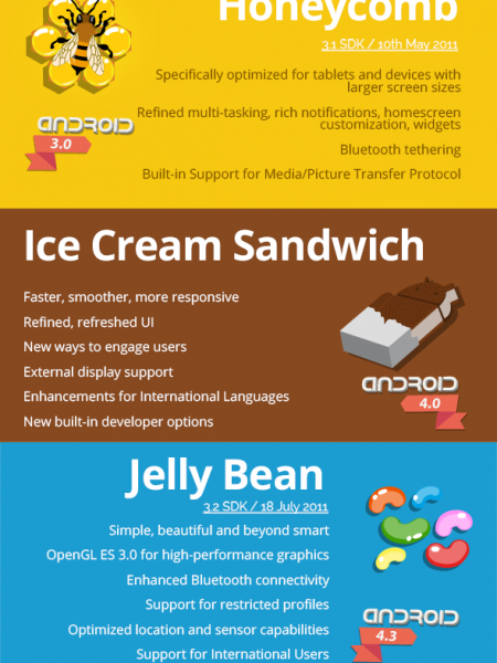 The Android Story Infographic