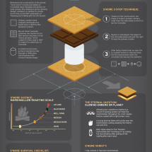 The Art & Science of Smores Infographic