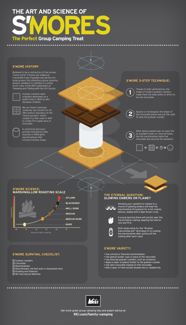 The Art &amp; Science of Smores Infographic